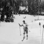 Glemte skihelter - her representert ved en ukjent løper i Holmenkollen ca 1925. (Kilde: Riksarkivet)