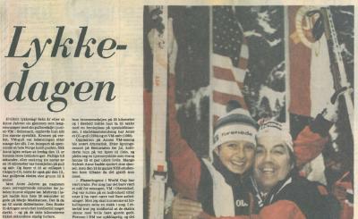 Faksimile Stavanger Aftenblad 14. februar 1987.