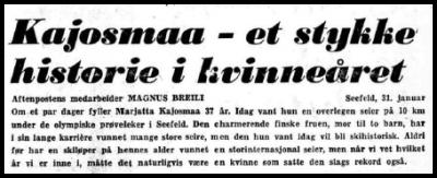 Faksimile Aftenposten 1.2.1975