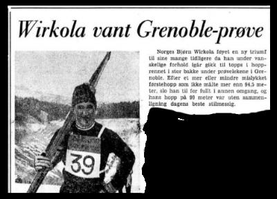 Faksimilie fra Aftenposten 9.2.1967
