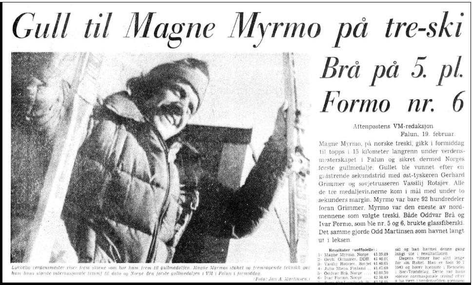 Faksimile Aftenposten Aften 19.2.1974
