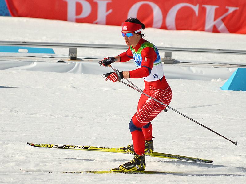 Marit Bjørgen på vei til OL-gull i Vancouver. (Foto: Bjarte Hetland)