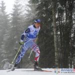 Franskmannen Robin Duvillard vant 15 km langrenn under de andre militære vinterlekene - i Annecy 2013. (Gjengitt med tillatelse fra CISM)