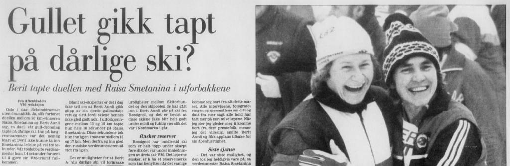 Faksimile Stavanger Aftenblad 27.2.1982