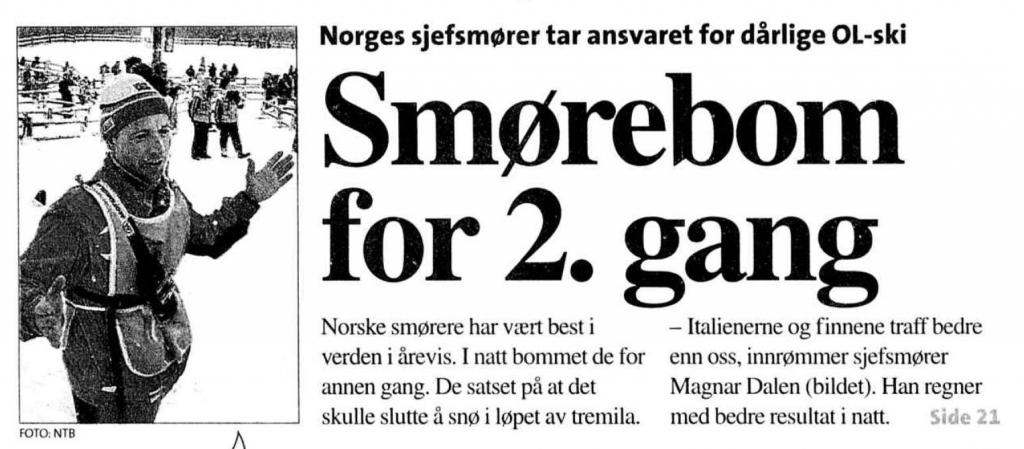 Faksimile Aftenposten Aften 9.2.1998