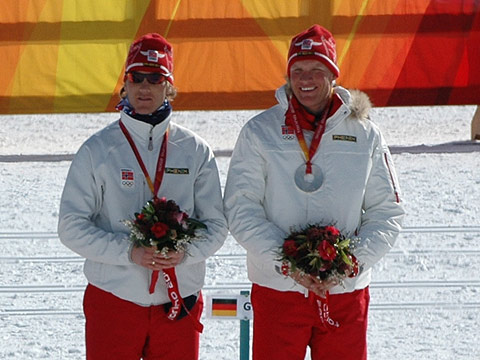 Jens Arne Svartedal hadde gode ski da han tok OL-sølv på lagsprinten, sammen med Tor Arne Hetland. På 15 km hadde hele det norske laget dårlige ski, og Svartedal ble bare nr 45. (Foto: Bjarte Hetland)