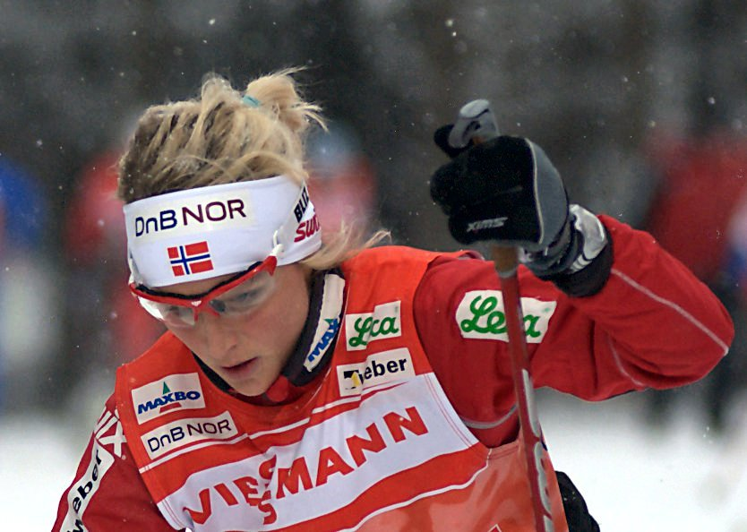 Therese Johaug under Tour de Ski 2010.