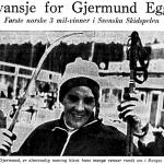 Faksimile Stavanger Aftenblad 26.2.1968 – Gjermund Eggen er første norske tremilsvinner i Svenska Skidspelen og fikk revansje for sin dårlige OL-innsats.