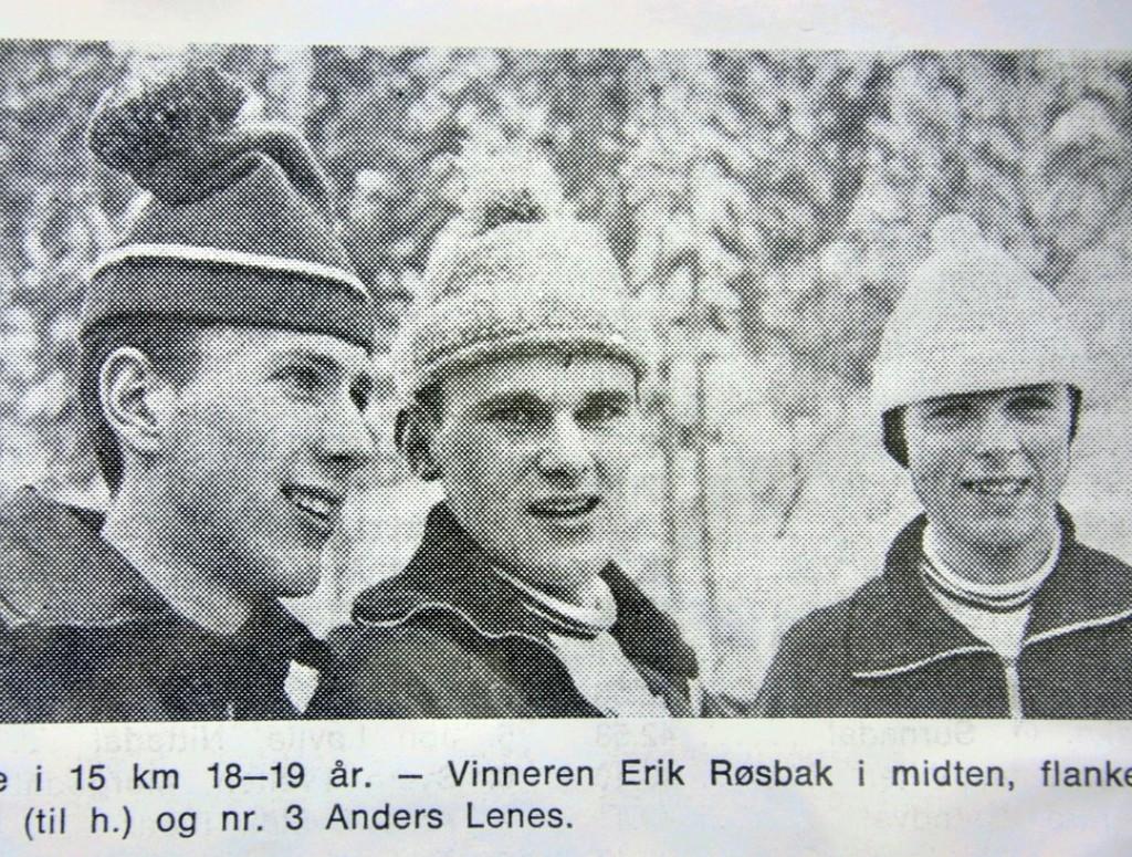 Fra junior-NM 1969: Oddvar Brå, Erik Røsbak og Anders Lenes