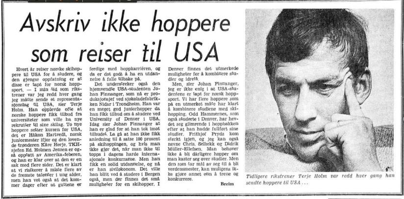 Faksimile Aftenposten 1.9.1977.