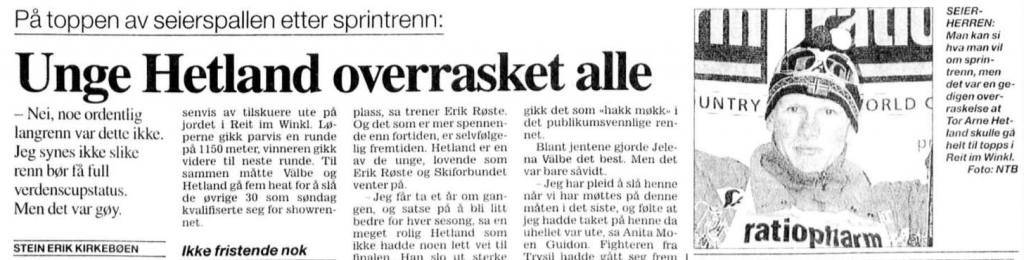 Faksimile Aftenposten 6.2.1996