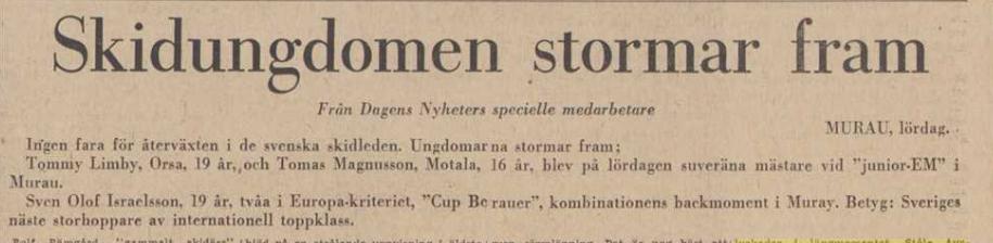 Faksimile Dagens Nyheter 5.2.1967