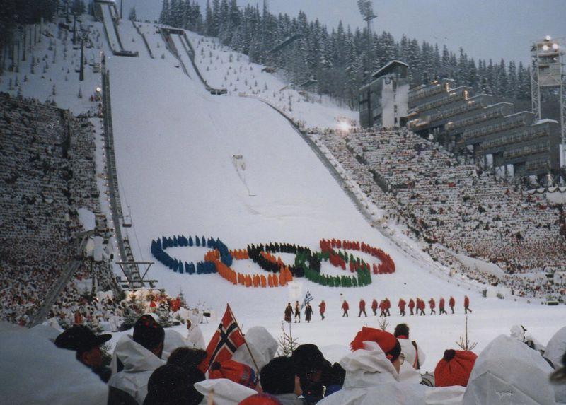 Bilde fra åpningsseremonien ved OL på Lillehammer 1994.
