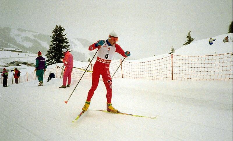 Bilder av Bjørn Dæhlie tatt under OL i Albertville i 1992.