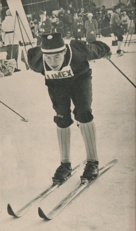 Bilde av Reidar Grønningen i skiløypa i Falun i 1961.