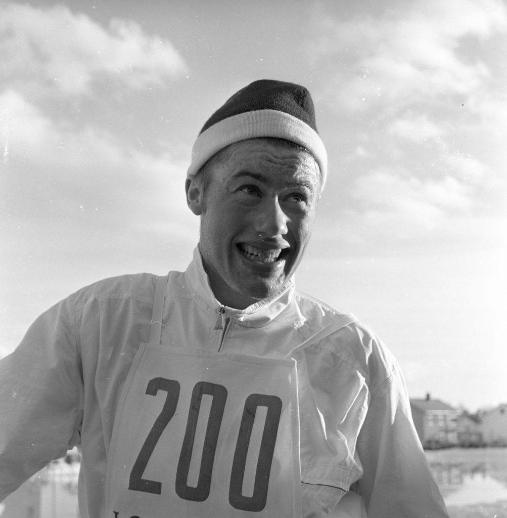 Bilde av Reidar Grønningen under junior-NM 1962, er han tok gull.