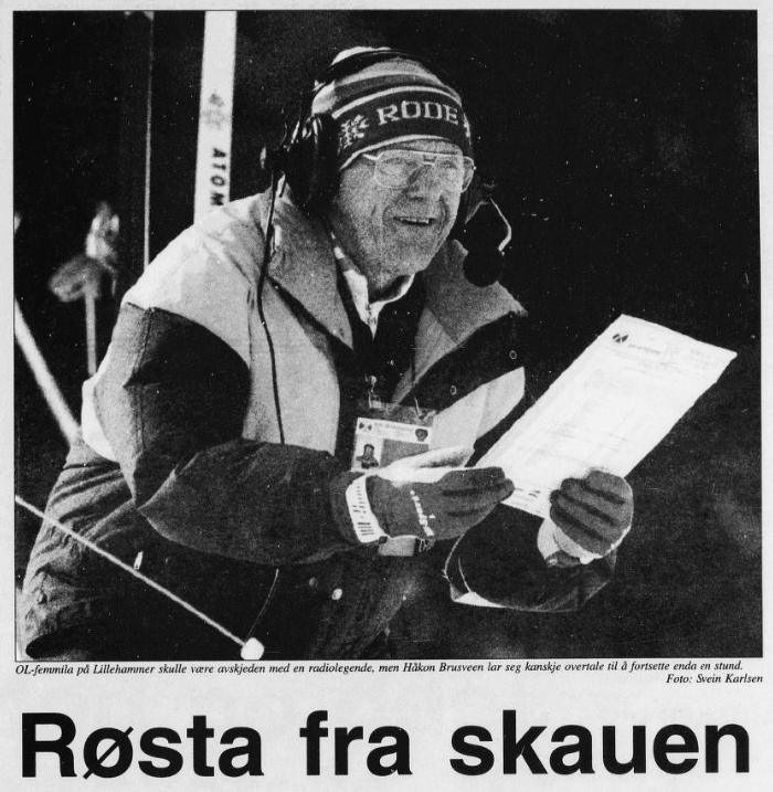 Faksimile Finnmarken 27.2.1994 – Håkon Brusveen er «røsta fra skauen».