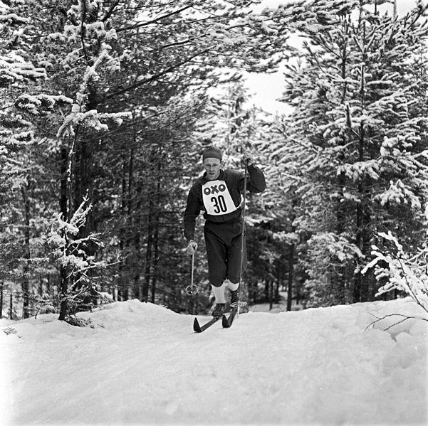 Bilde av Håkon Brusveen under NM 1960.