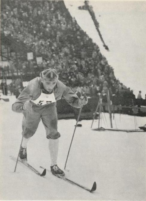Bilde av Sverre Stensheim, tatt i Holmenkollen 1959.