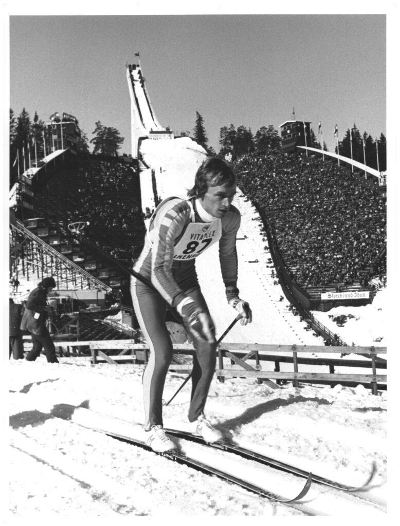 Bilde av langrennsløperen Sven-Åke Lundbäck, Holmenkollen 1978