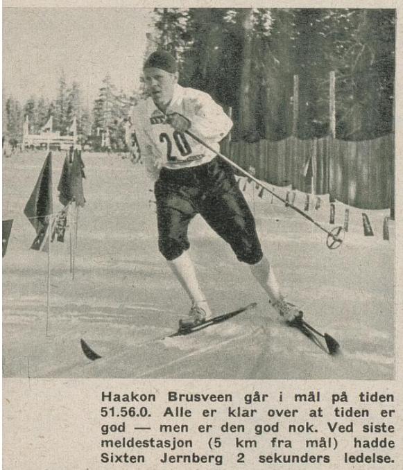 Faksimile Nå nr 10/1960 - Bilde og tekst om OL-gullvinner Håkon Brusveen.